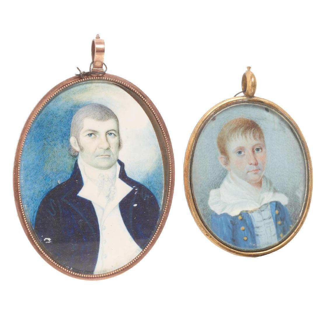 Nice collection European portrait miniatures - 6