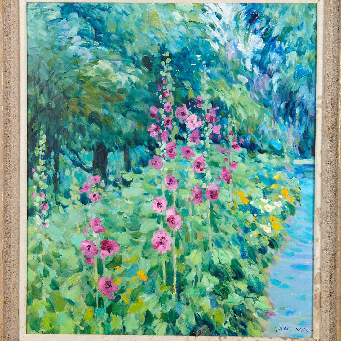 Malva, painting - 2