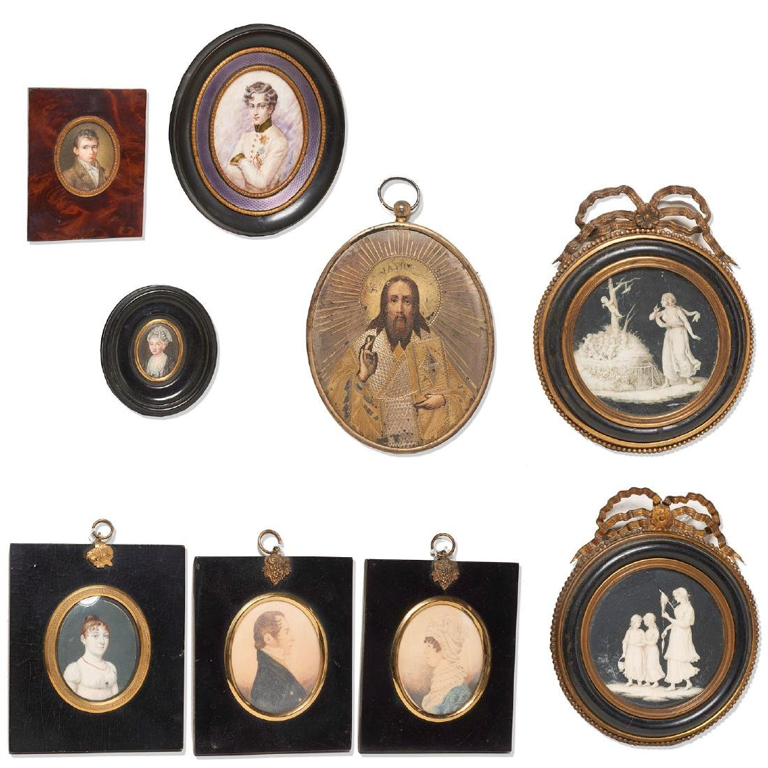 Collection European miniature paintings and icon