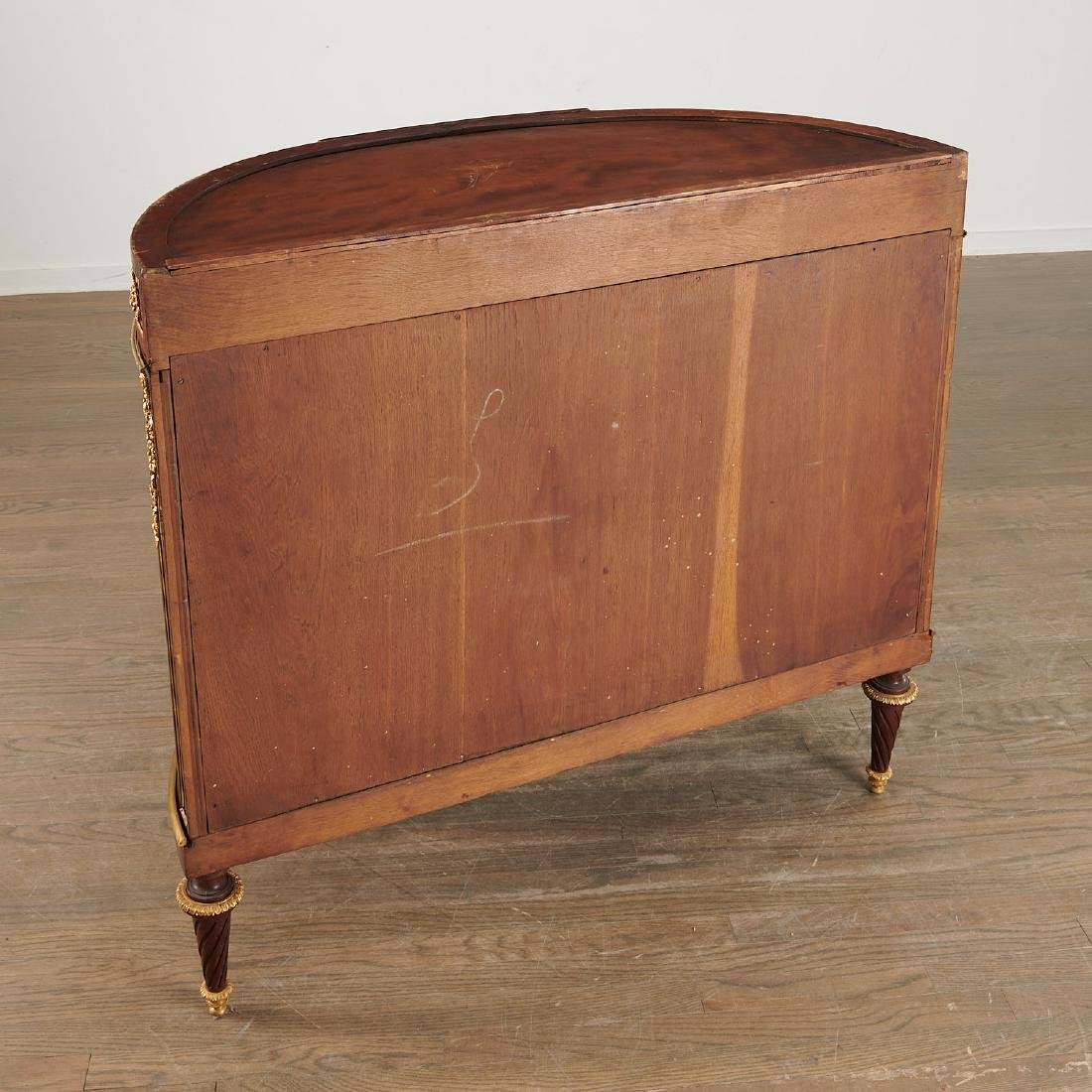 Louis XVI style demi-lune commode after Linke - 8