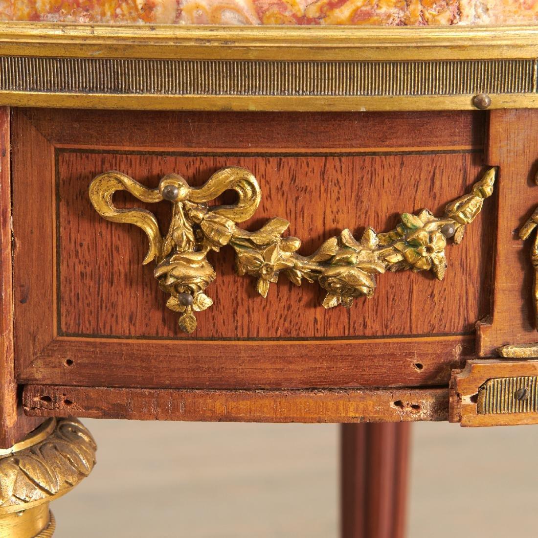 Louis XVI style mahogany marble top gueridon - 4