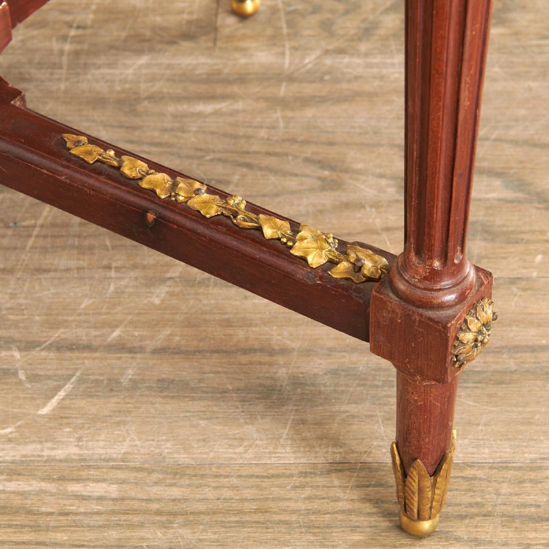 Louis XVI style mahogany marble top gueridon - 5