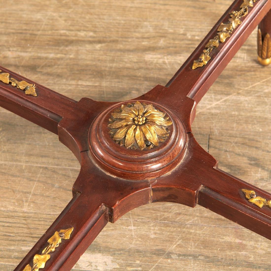 Louis XVI style mahogany marble top gueridon - 6