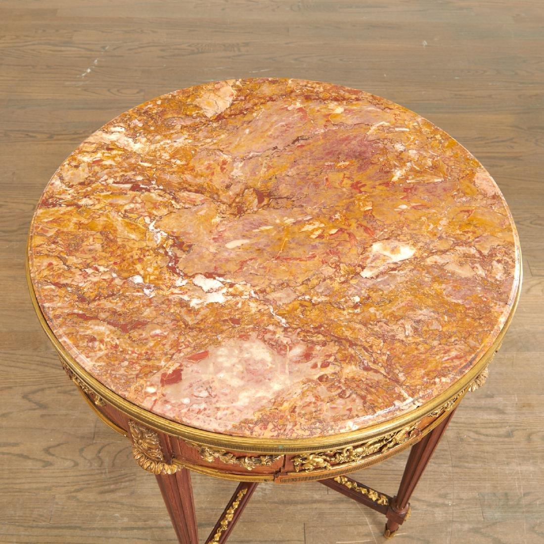 Louis XVI style mahogany marble top gueridon - 7