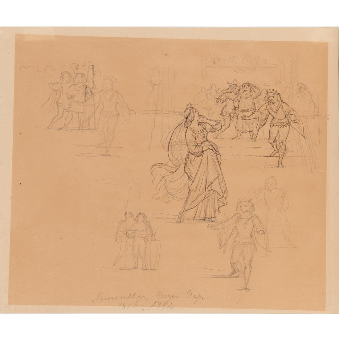 Eugen Neureuther, drawing, c. 1840