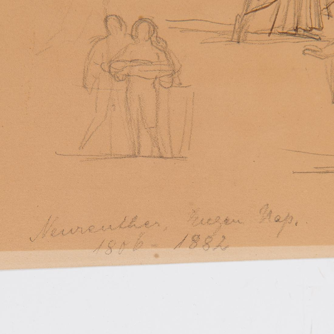 Eugen Neureuther, drawing, c. 1840 - 5