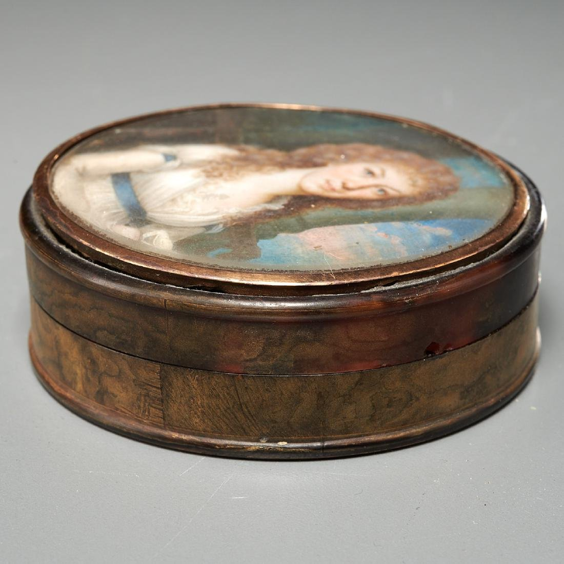 (2) French gold-mounted portrait miniature boxes - 4