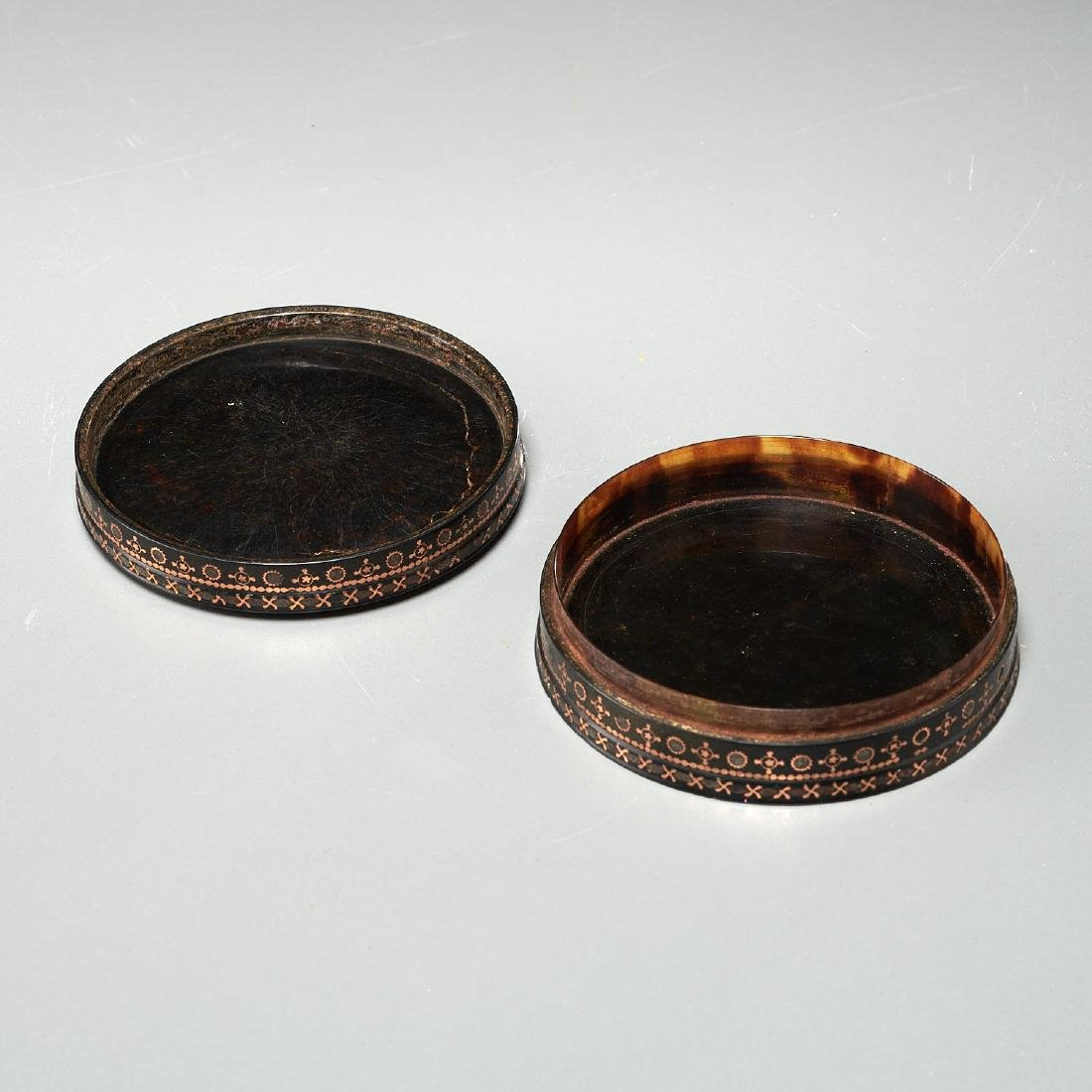 (2) French gold-mounted portrait miniature boxes - 8