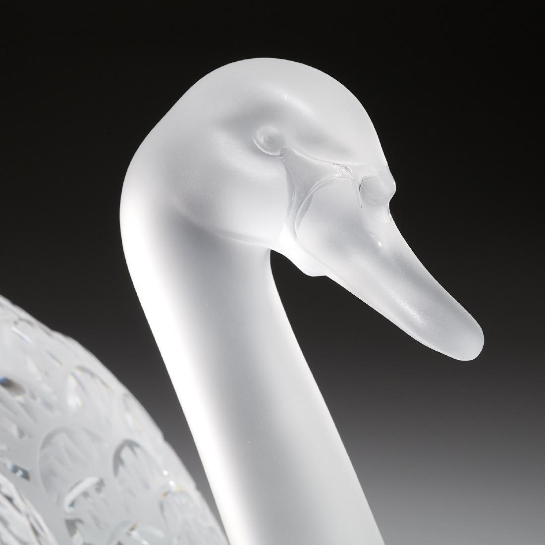 """Lalique """"Cygne Tete Droite"""", """"Cygne Tete Penchee"""" - 2"""