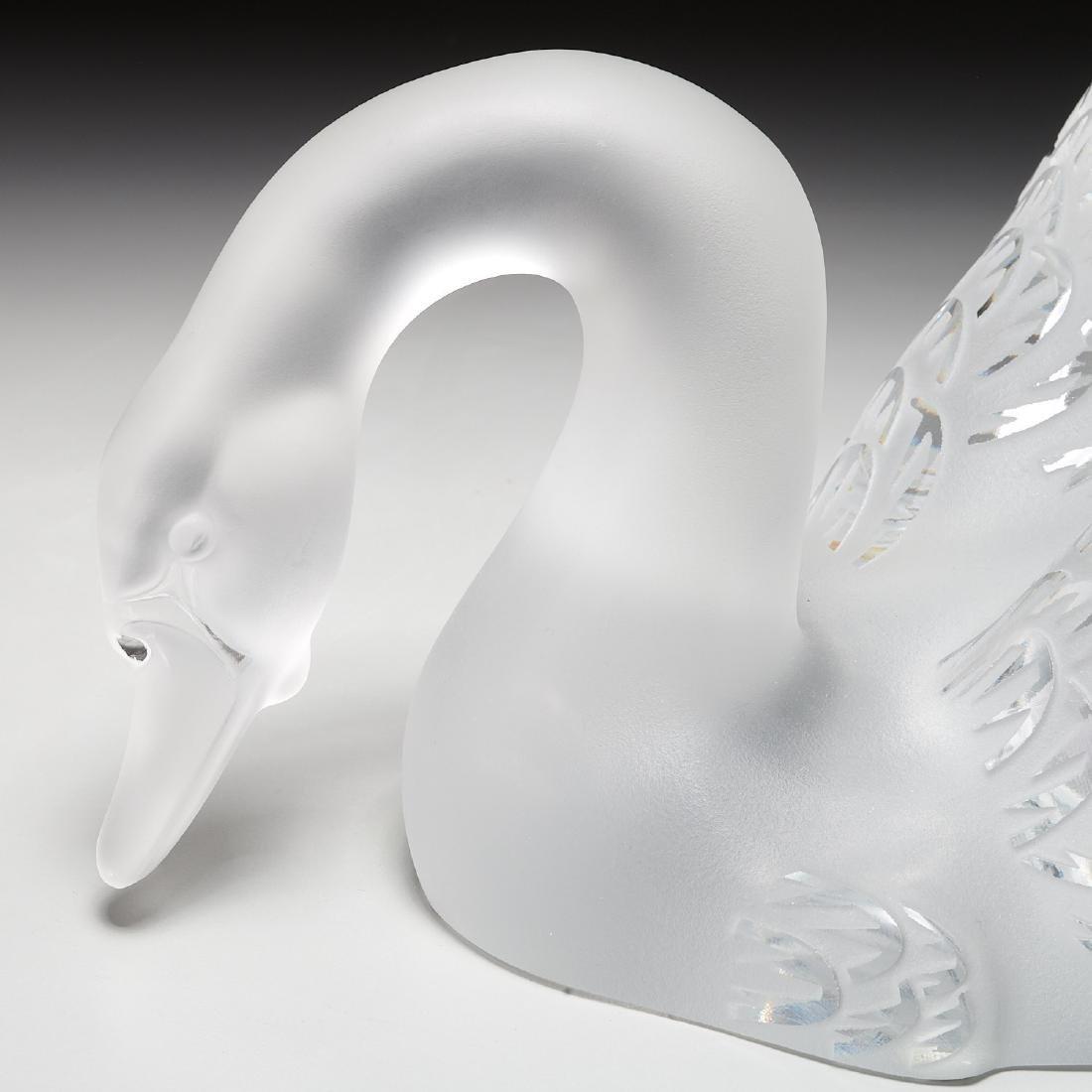 """Lalique """"Cygne Tete Droite"""", """"Cygne Tete Penchee"""" - 4"""