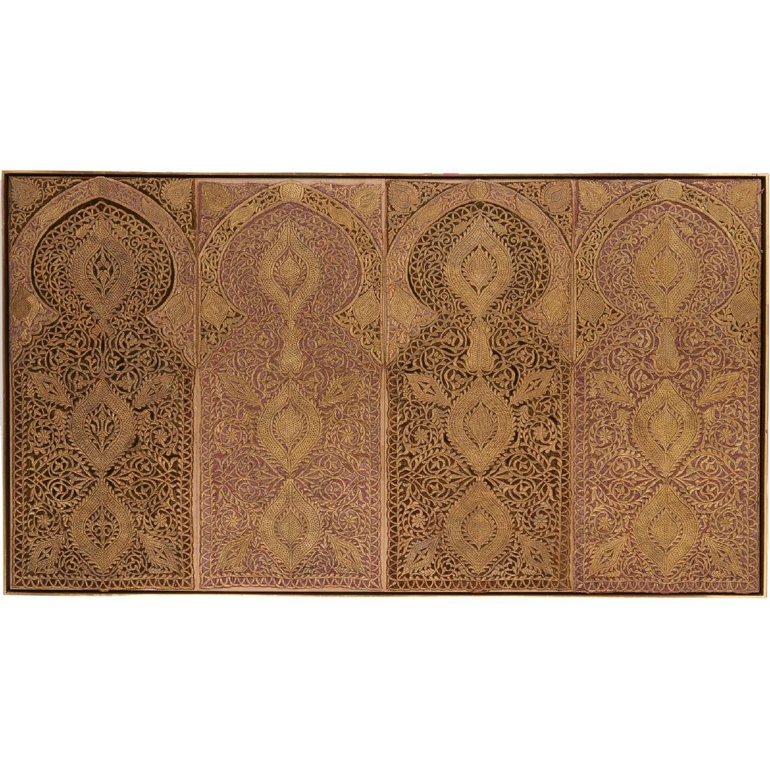 Large Mughal silk and metal threaded tapestry