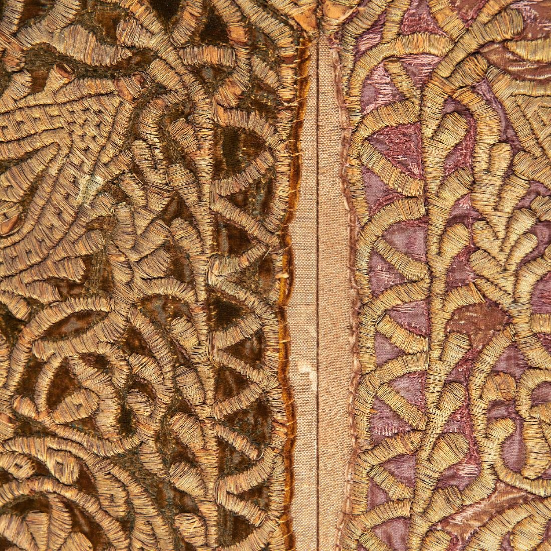 Large Mughal silk and metal threaded tapestry - 6