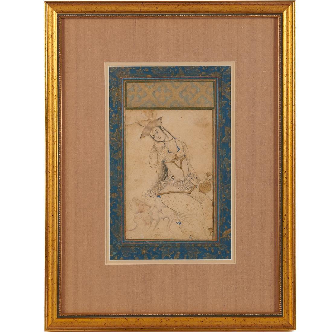 Mughal School, fine drawing