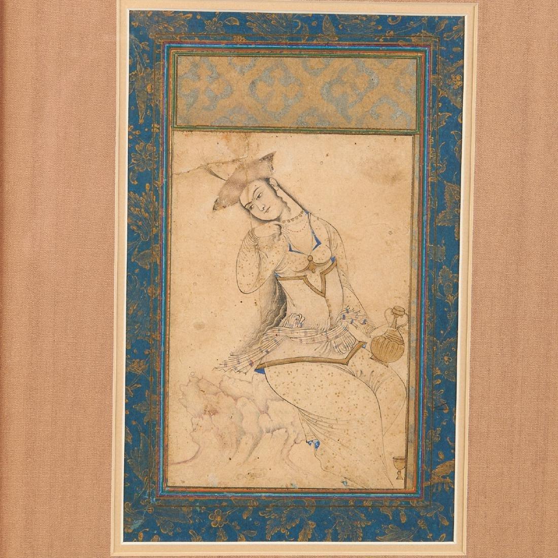 Mughal School, fine drawing - 2