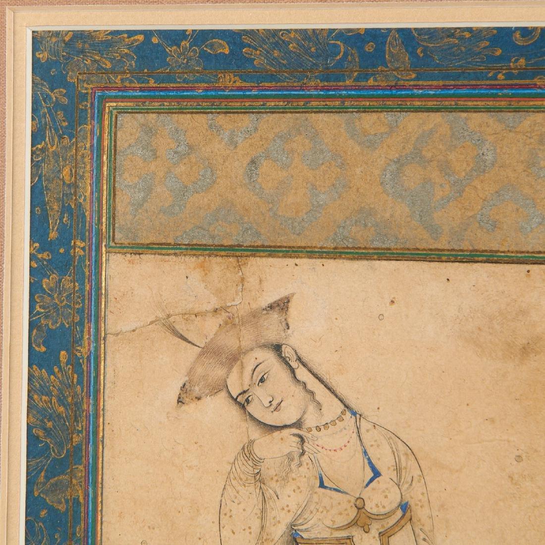 Mughal School, fine drawing - 3