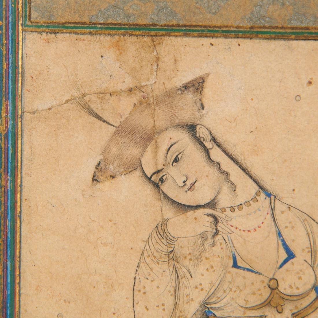 Mughal School, fine drawing - 7