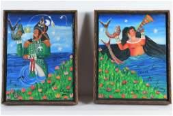 Andre Pierre, (2) paintings
