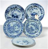 Group Chinese blue and white porcelain dishes