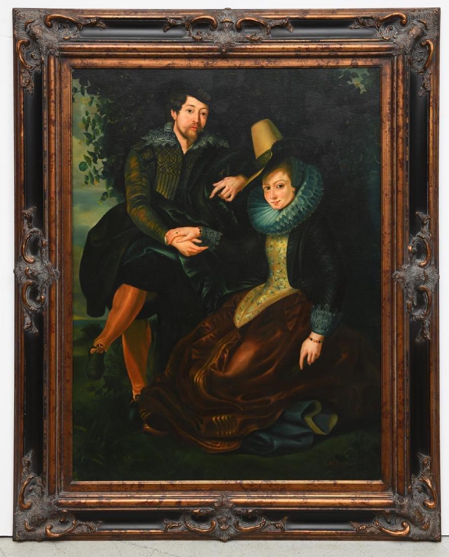 After Peter Paul Rubens, self portrait painting
