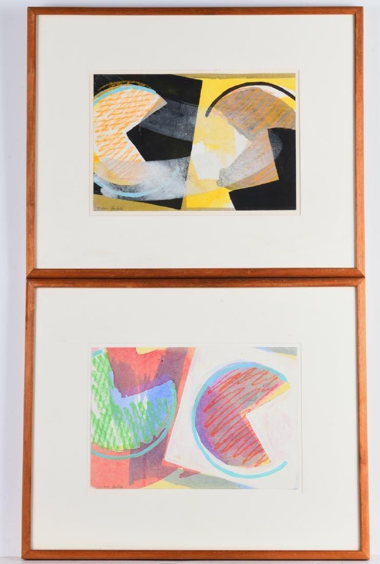 Edward Youkilis, (2) mixed media paintings, 1978