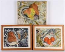 Trudi Frank, (3) watercolors