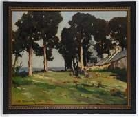 Amedee Boucher, painting