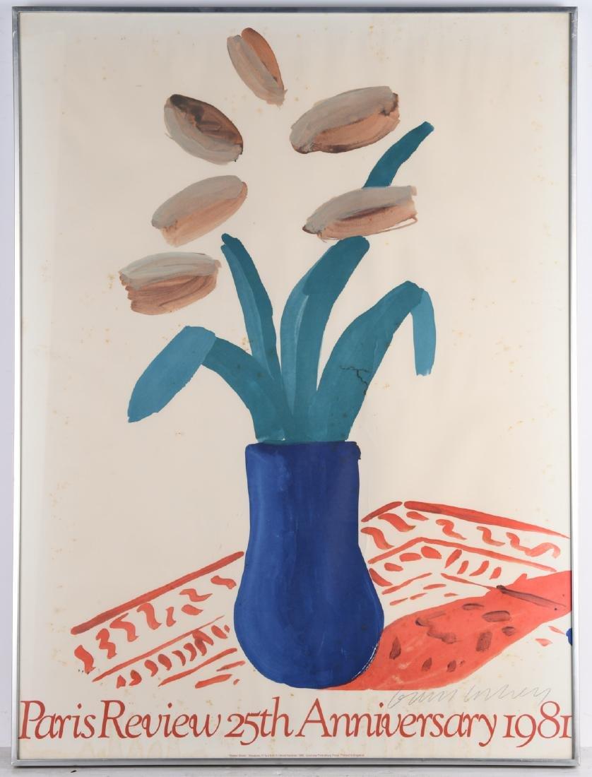 David Hockney, signed poster