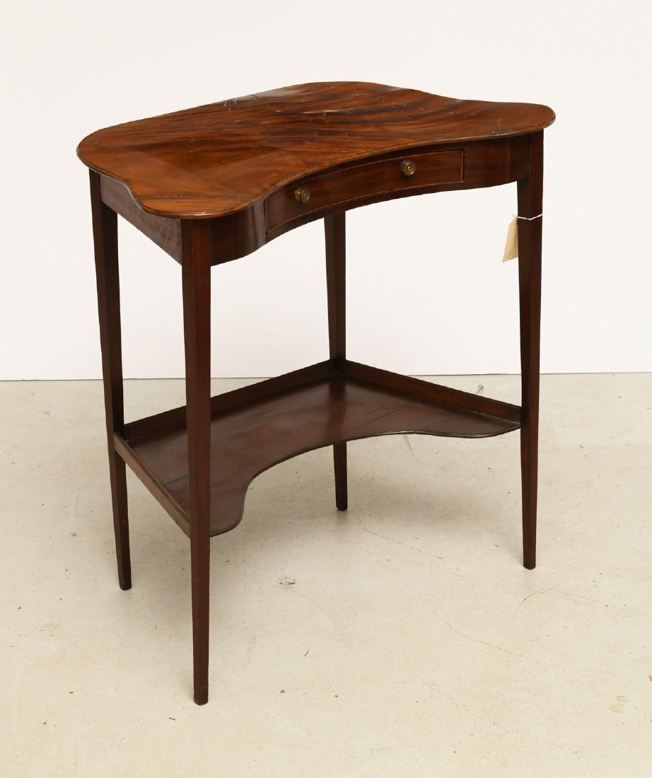 Unusual Hepplewhite figured mahogany writing table