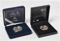 2 UK Silver proof coins 2000 2015 wboxes