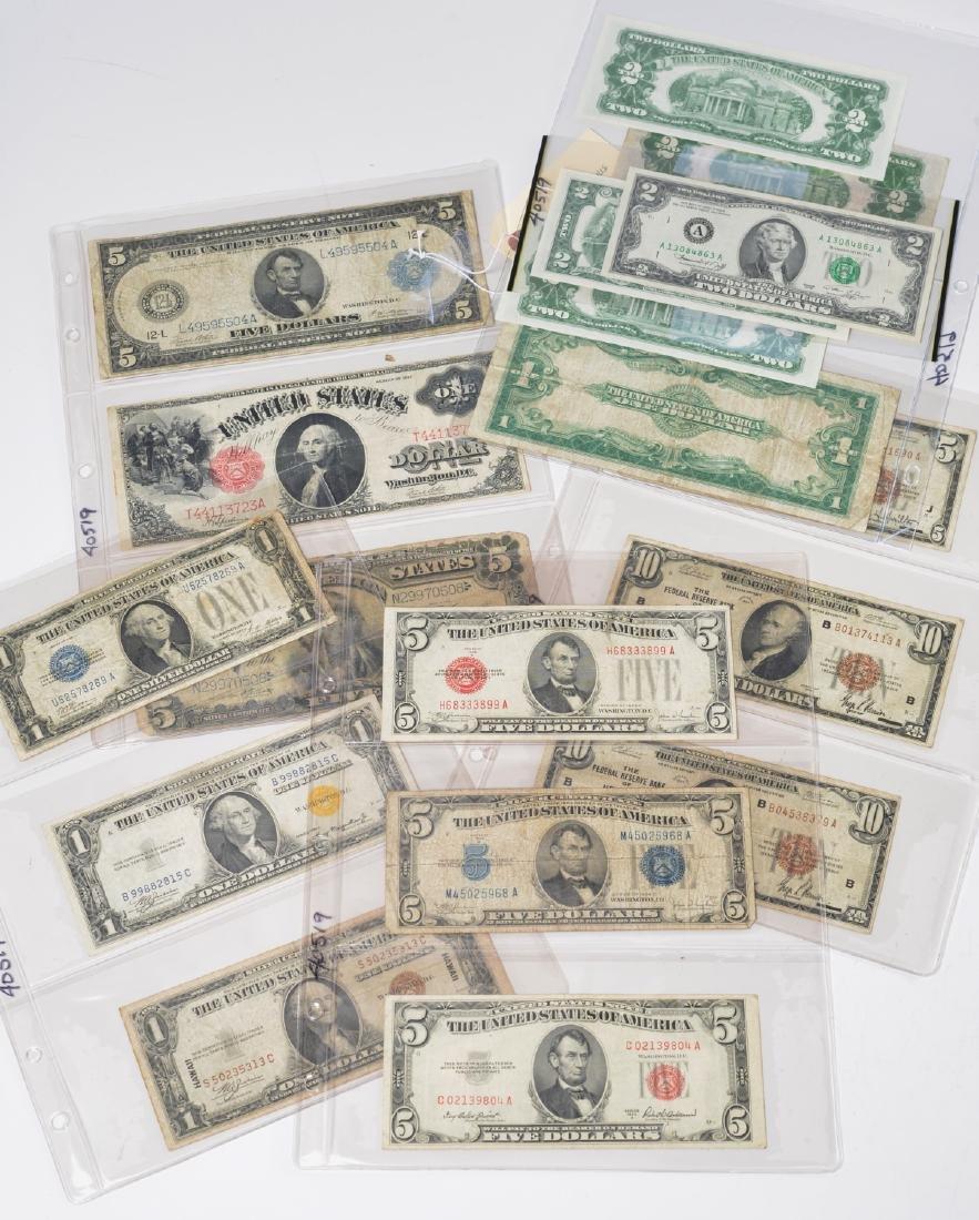 (18) U.S. bills incl. 1890 $5 Silver Certificate