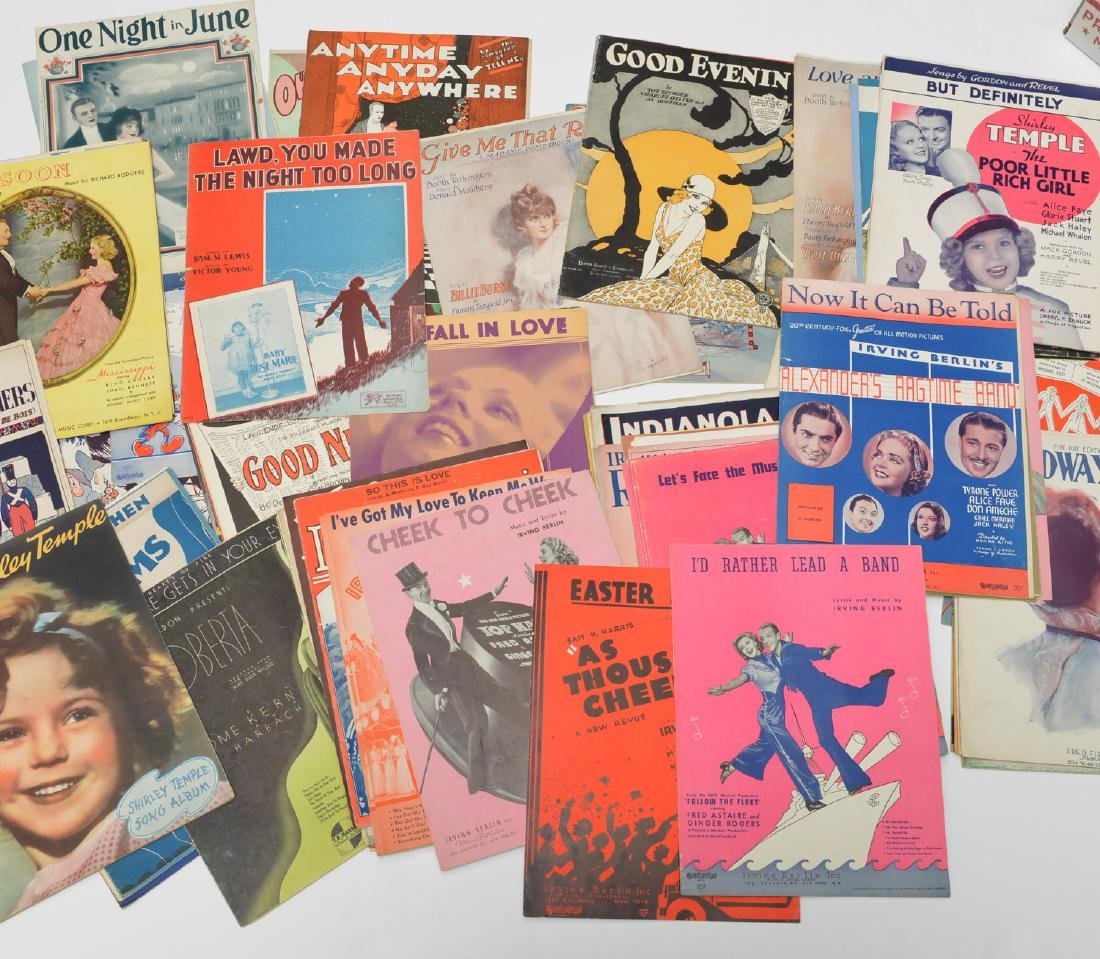(100) Vintage sheet music collection