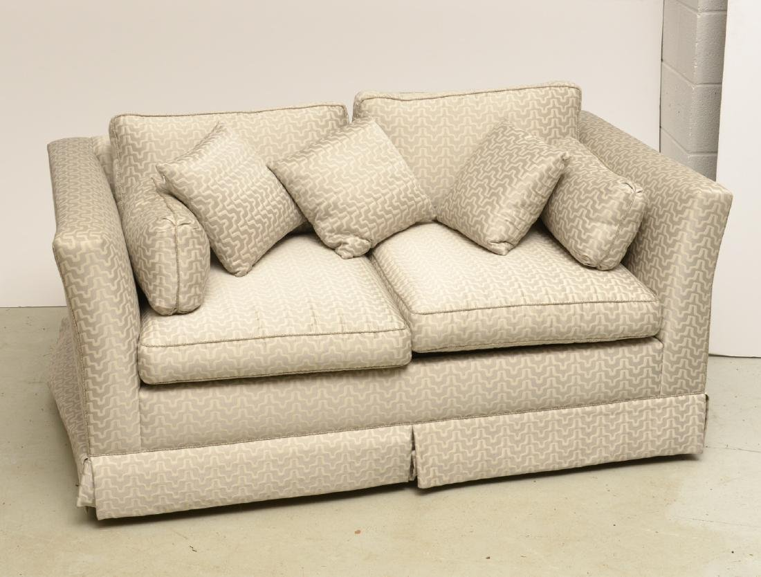 Contemporary upholstered sleeper love seat