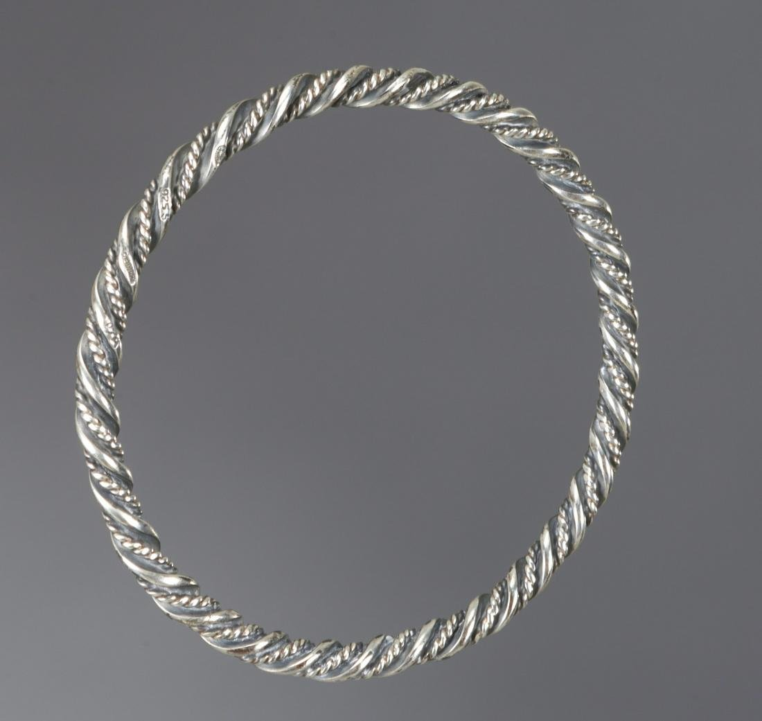 Georg Jensen sterling silver bangle bracelet