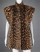 Vintage ladies leopard skin vest