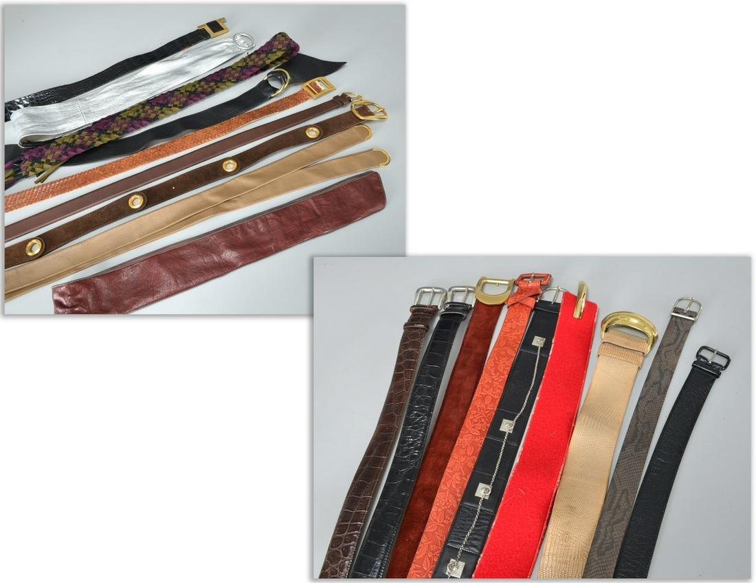 Group of vintage ladies desgner belts