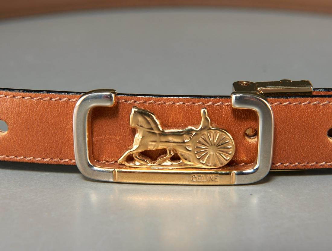 Celine Horse carriage buckle belt