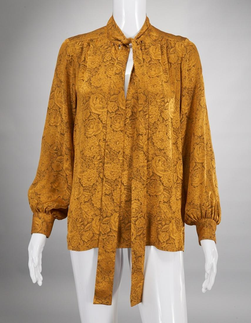 Vintage Yves Saint Laurent ladies silk blouse