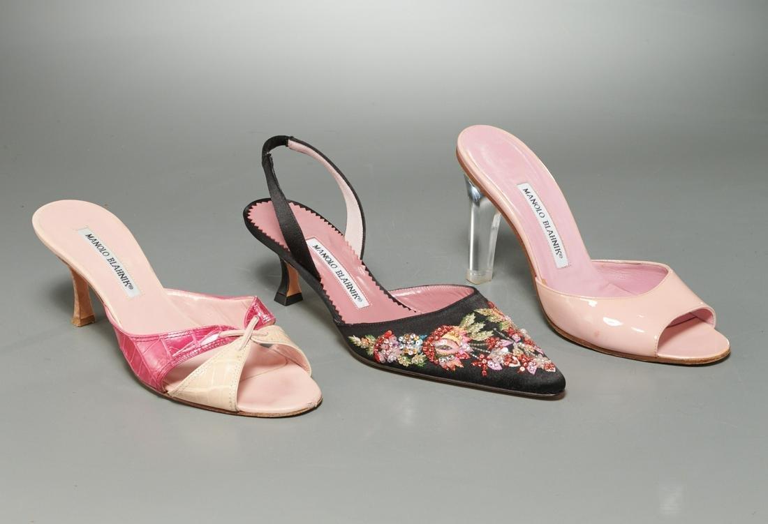 Group of Manolo Blahnik heels