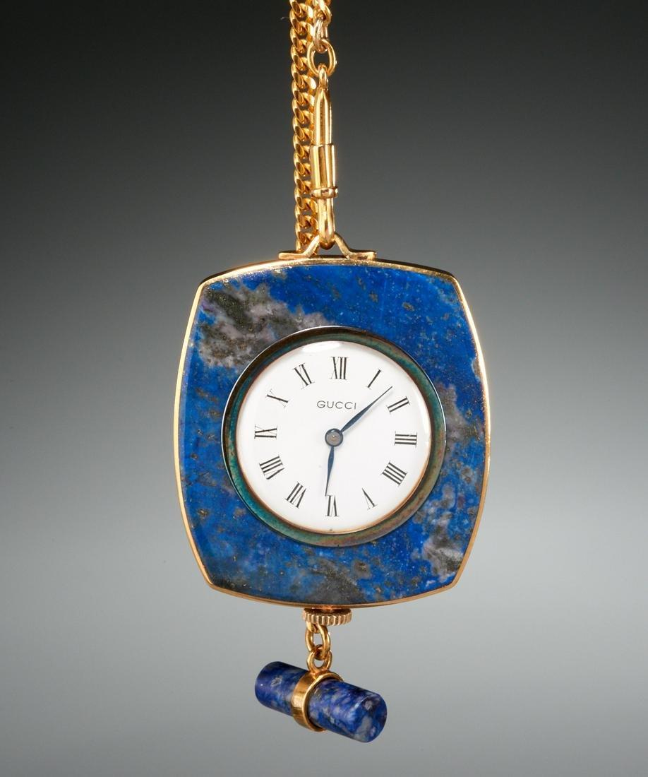 Vintage Gucci 18k gold pocket watch