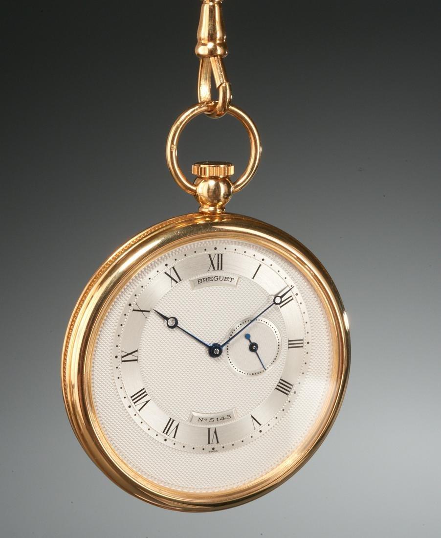Breguet 18k gold pocket watch #5143