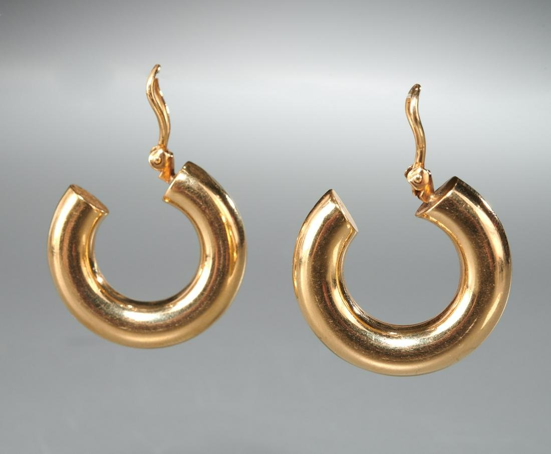 14k gold clip style earrings