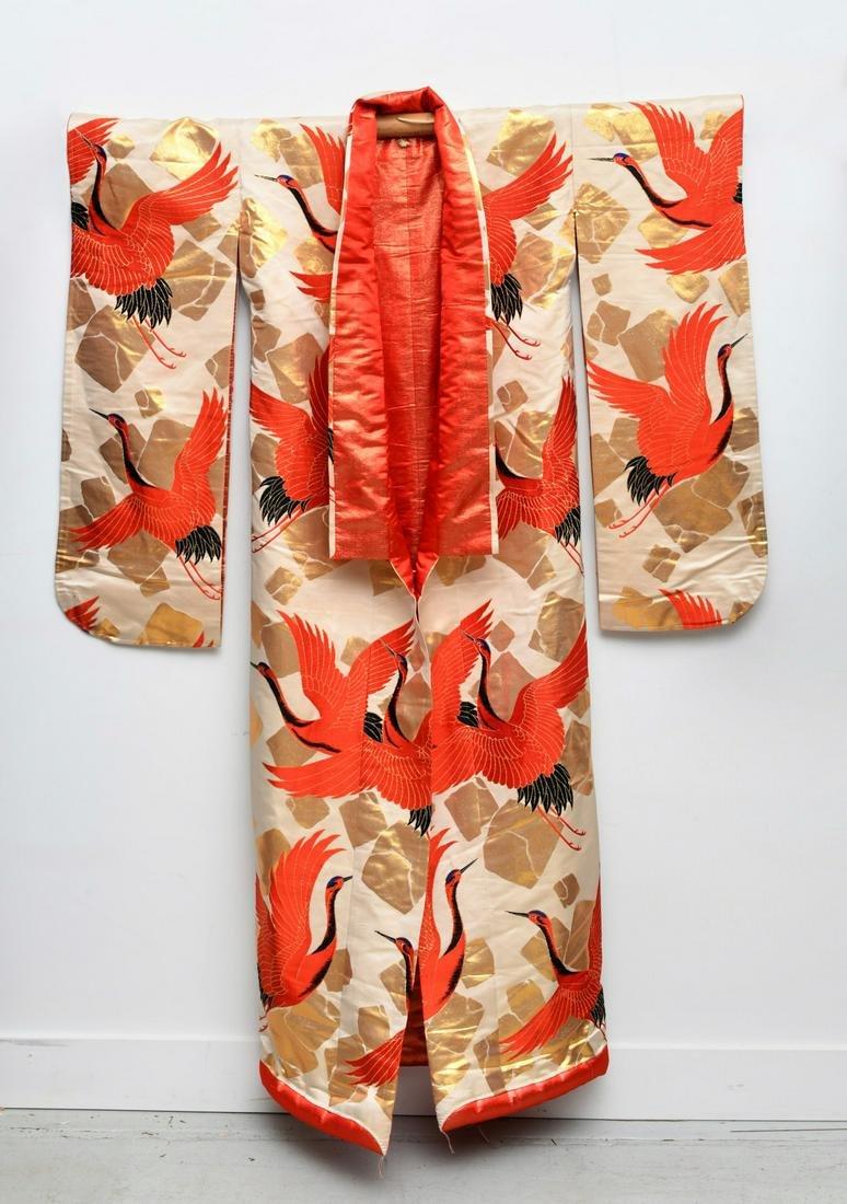 Japanese silk wedding kimono uchikake
