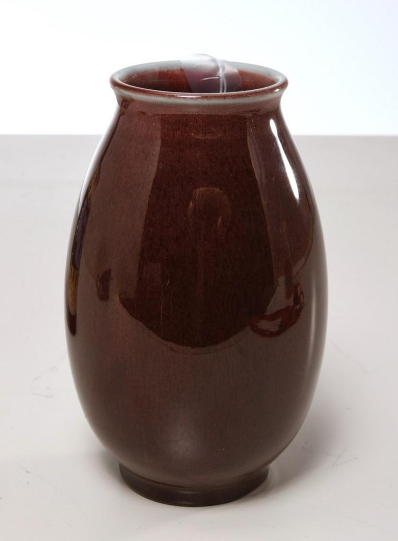 Rookwood oxblood glaze pottery vase