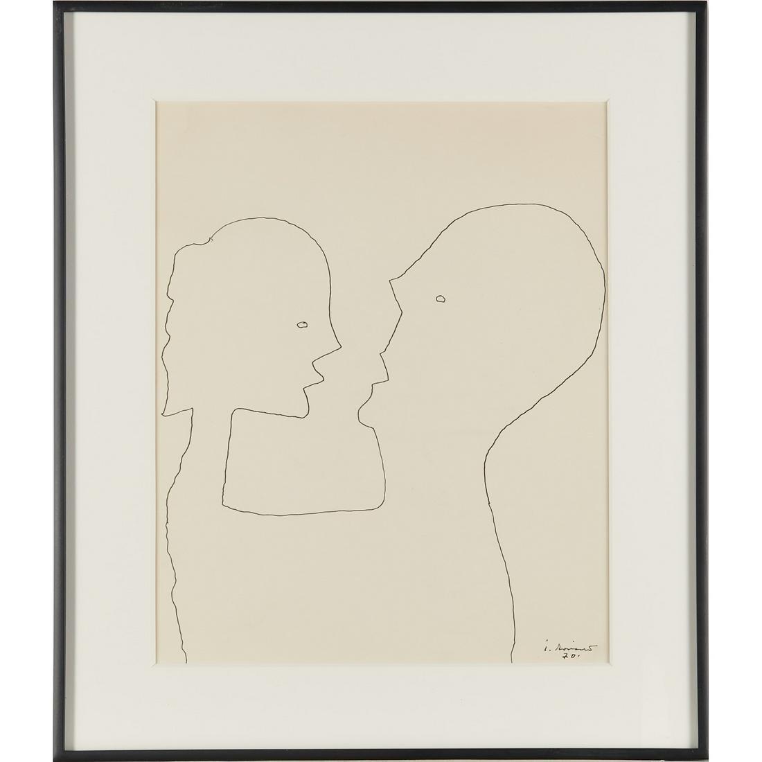 Juan Soriano, drawing, 1970