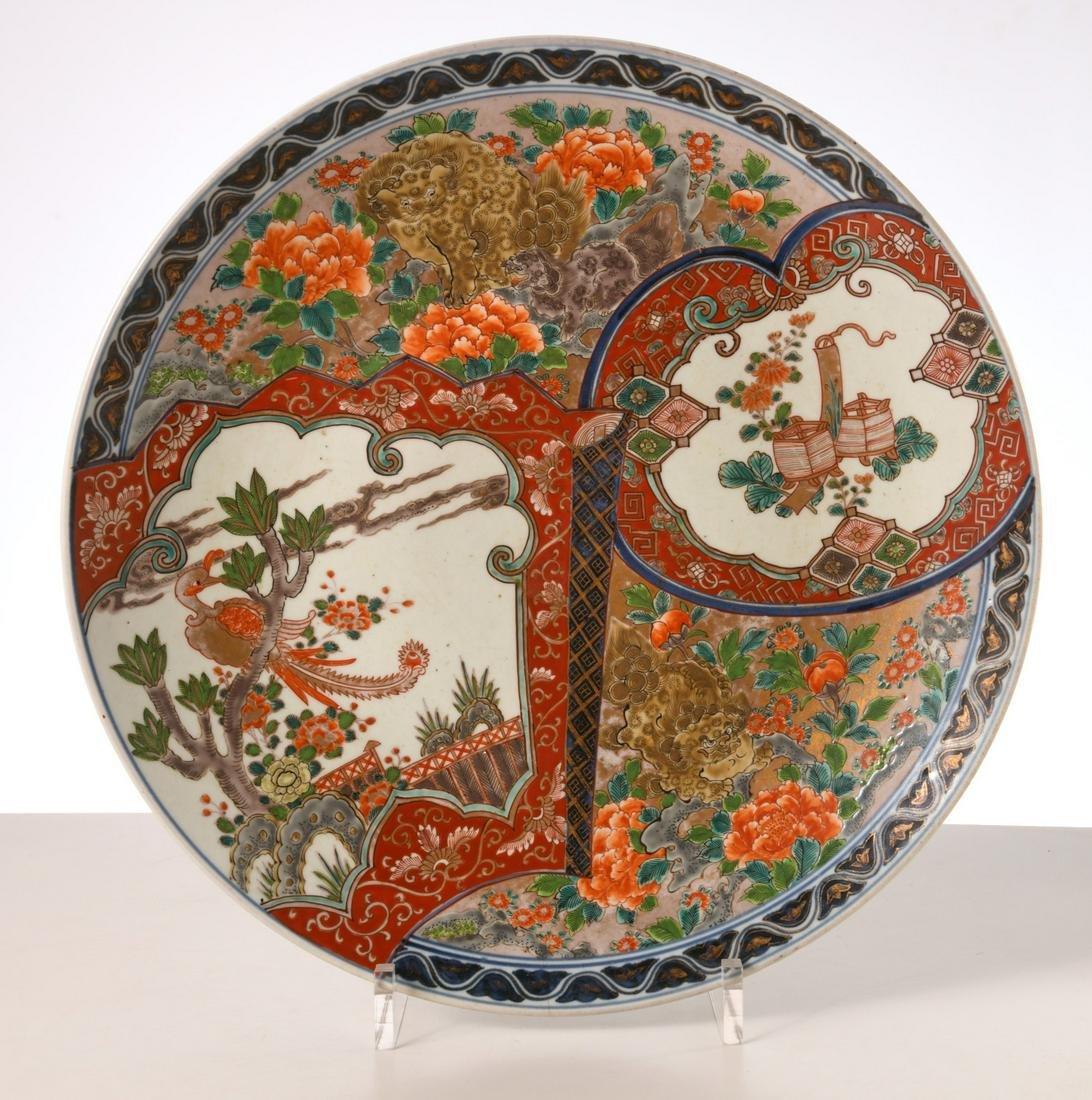 Large Imari porcelain charger