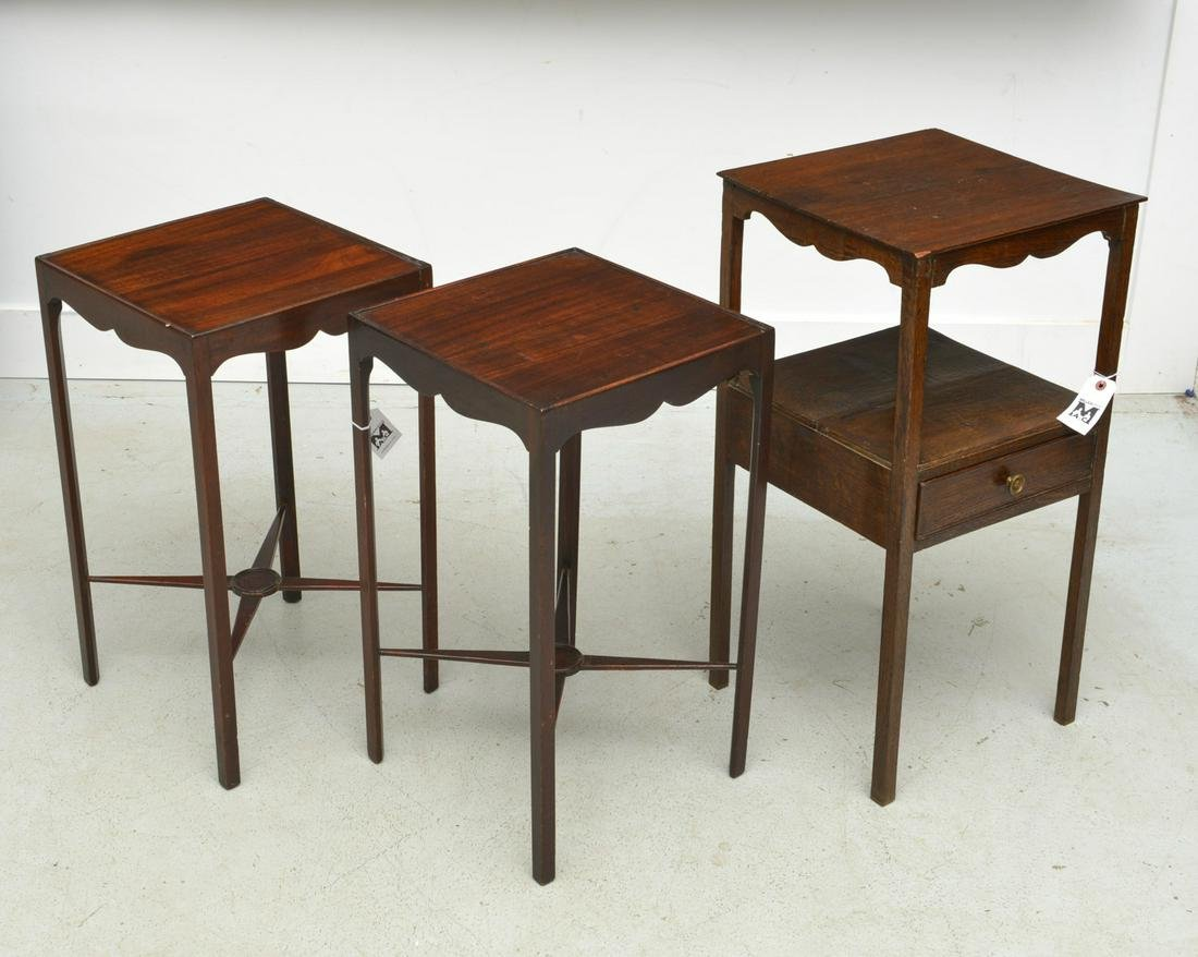 (3) antique George III style side tables