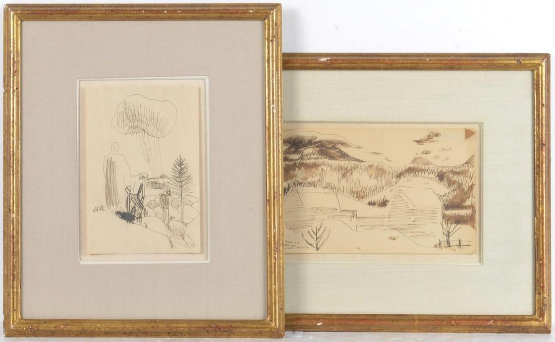 Carl Sprinchorn, (2) drawings
