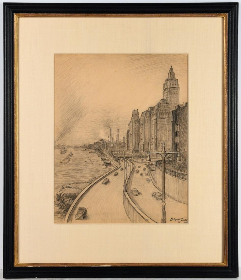 Bayard Jones, drawing, New York City
