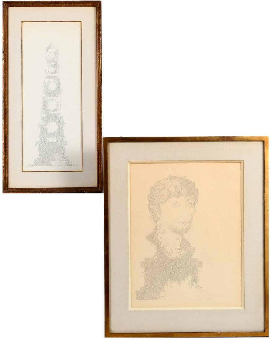 Robert Galster, pair of drawings