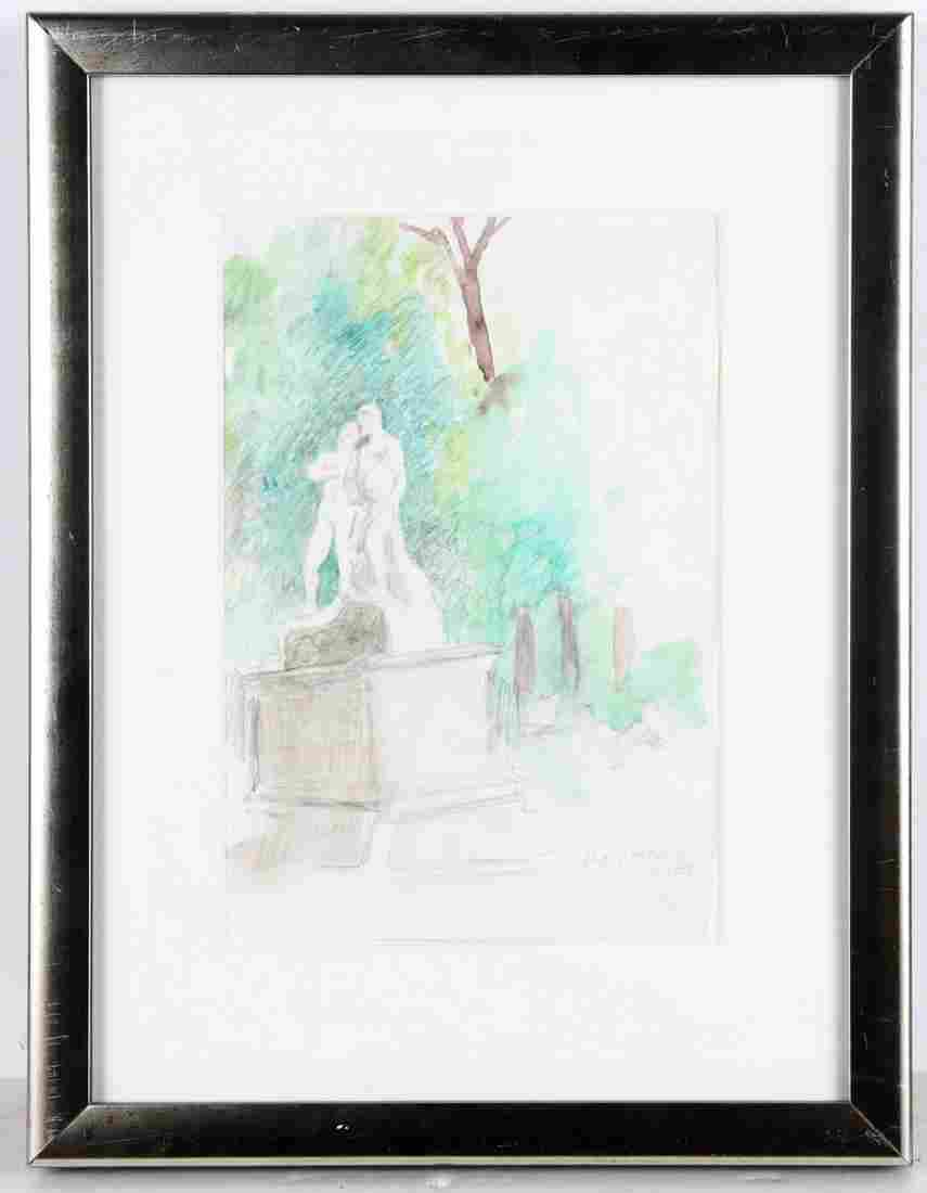 Raphael Soyer, watercolor painting